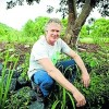 Steve McGrane in the Coffs Community Garden.
