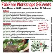 October and November Workshops at Coffs Community garden