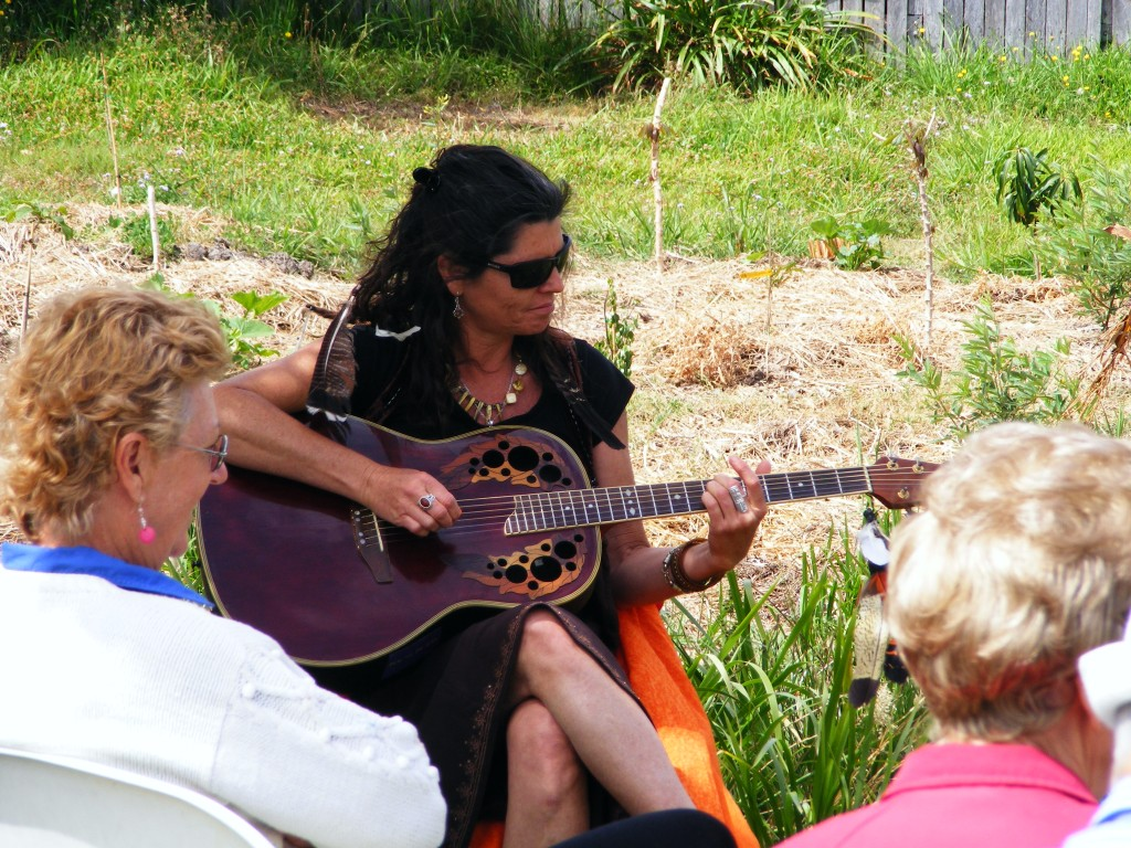 Sarah McCafferty entertains at the garden -October 2012