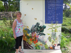 Robyn & her new mural